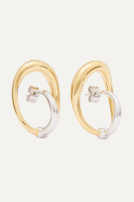 Charlotte Chesnais Turtle Gold Vermeil And Silver Earrings