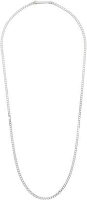 Saskia Diez Silver Grand Identity Narrow Necklace