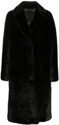 Philipp Plein Graffiti-Print Faux-Fur Coat
