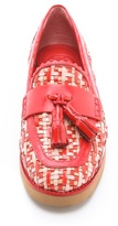 Tory Burch Careen Woven Loafers