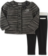 Calvin Klein Baby Girls' 2-Pc. Boucle Jacket & Leggings Set