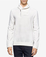 Calvin Klein Men's Quilted Fleece Shawl-Collar Sweater, A Macy's Exclusive Style