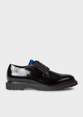 Paul Smith Men's Black High-Shine Leather 'Mac' Derby Shoes