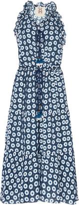 Figue Gabriella Printed Silk-Georgette Midi Dress