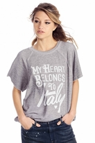 Wildfox Couture My Heart Belongs To Brit Pullover in Vintage Grey