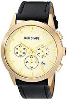 Jack Spade Men's WURU0196 Analog Display Japanese Quartz Black Watch