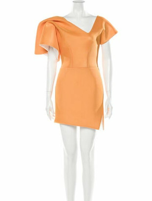 Maticevski Peacock Cocktail Dress Mini Dress w/ Tags Orange