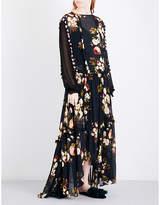 Preen Line Kadie floral-print chiffon maxi dress