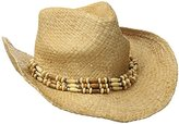 San Diego Hat Company Women's Raffia Cowboy Hat with Beaded Band