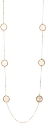 Natasha Accessories Crystal Framed Medallion Station Necklace