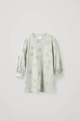 Cos Flocked Cotton Dress