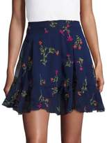 Design Lab Lord & Taylor Floral Printed Mini Skirt