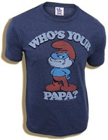 Junk Food Clothing Smurfs Papa Smurf Who's Your Papa Adult T-shirt