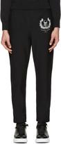 Alexander McQueen Black Skull and Crown Lounge Pants