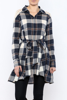 Ryu Plaid Lace Tunic