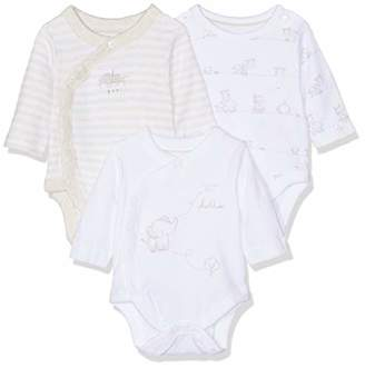 Mothercare Baby My First Elephant Wrap Opening Bodysuits - 3 Pack,(Manufacturer Size:56cm)