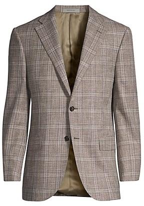 Corneliani Leader Plaid Wool Sportcoat