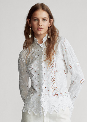 Ralph Lauren Embroidered Eyelet Shirt