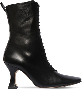 Miista 80mm Yana Leather Lace-up Boots