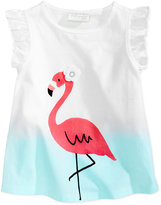 First Impressions Flamingo-Print Cotton T-Shirt, Baby Girls (0-24 months), Only at Macy's