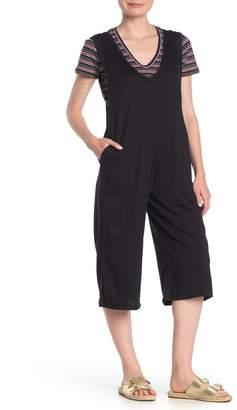 Cotton Emporium Double V Sleeveless Jumpsuit