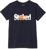 Tiny Whales Stoked T-Shirt (Toddler/Little Kids/Big Kids) (Navy) Boy's Clothing