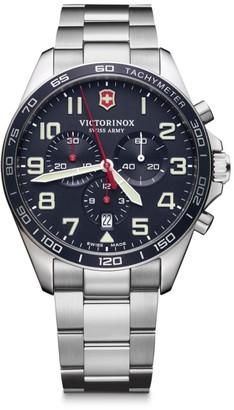 Victorinox Field Force Chronograph Stainless Steel Bracelet Strap Watch