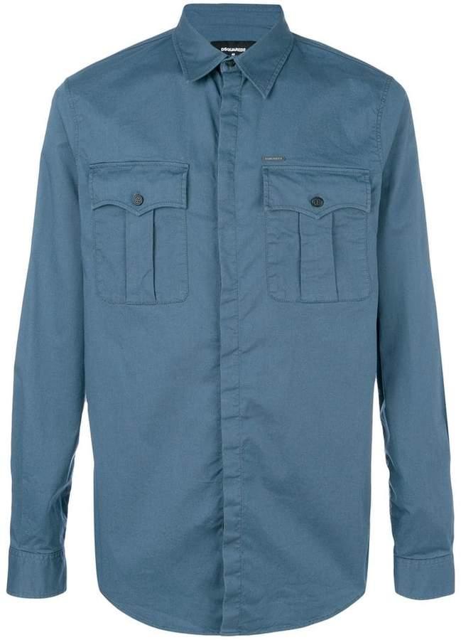 DSQUARED2 chest pocket shirt
