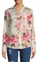 Calvin Klein Long Sleeve Gingham Floral Shirt