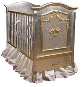 The Well Appointed House Cherubini Crib with Silver and Gold Gilding