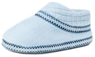 Muk Luks Women's Rita Micro Chenille Full Foot Slippers Light Blue Large M US