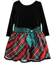 Jayne Copeland Red Plaid Bow Dress - Toddler & Girls