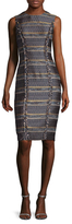 Ava & Aiden Cotton Tweed Sheath Dress