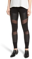 BP Women's Mesh Inset Moto Leggings