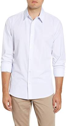 Mizzen+Main Singer Trim Fit Mini Grid Button-Up Shirt