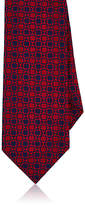 Barneys New York Men's Geometric-Pattern Silk Necktie