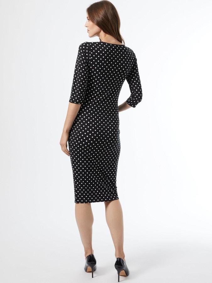 Thumbnail for your product : Dorothy Perkins Maternity Mono Spot Print Jersey Dress - Black