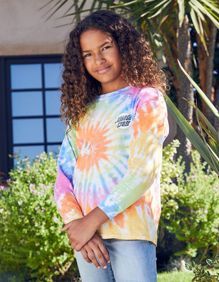 Santa Cruz Tie Dye Girls Rainbow Tee