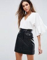 Missguided Frill Sleeve Top