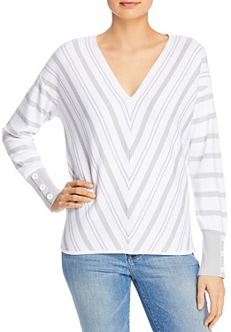 Design History Chevron Striped Top