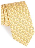 Salvatore Ferragamo Men's Butterfly Print Silk Tie
