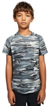 Nike Big Boys Dri-fit Camo-Print T-Shirt