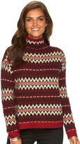 Chaps Women's Print Mockneck Sweater