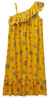 Parker Peyton & Little Kid / Big Kid Girls Sleeveless Cold Shoulder Sleeve Floral A-Line Dress, Small (7-8) , Yellow
