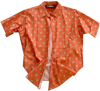 Jeremy Scott Orange Cotton Tops