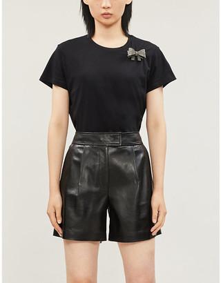 Pinko Mezzogiorno detachable brooch cotton-jersey T-shirt