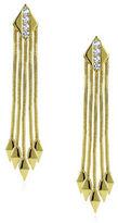 Noir Cubic Zirconia Studded Fringe Assassin Earrings