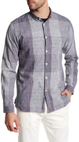 Knowledge Cotton Apparel Button Down Trim Fit Checked Shirt