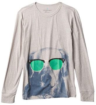 crewcuts by J.Crew Long Sleeve Dog Sunglassess Tee - Abbott (Toddler/Little Kids/Big Kids) (Sunglasses Dog) Boy's Clothing