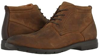 Florsheim Westside Plain Toe Chukka Boot (Brown Crazy Horse) Men's Boots